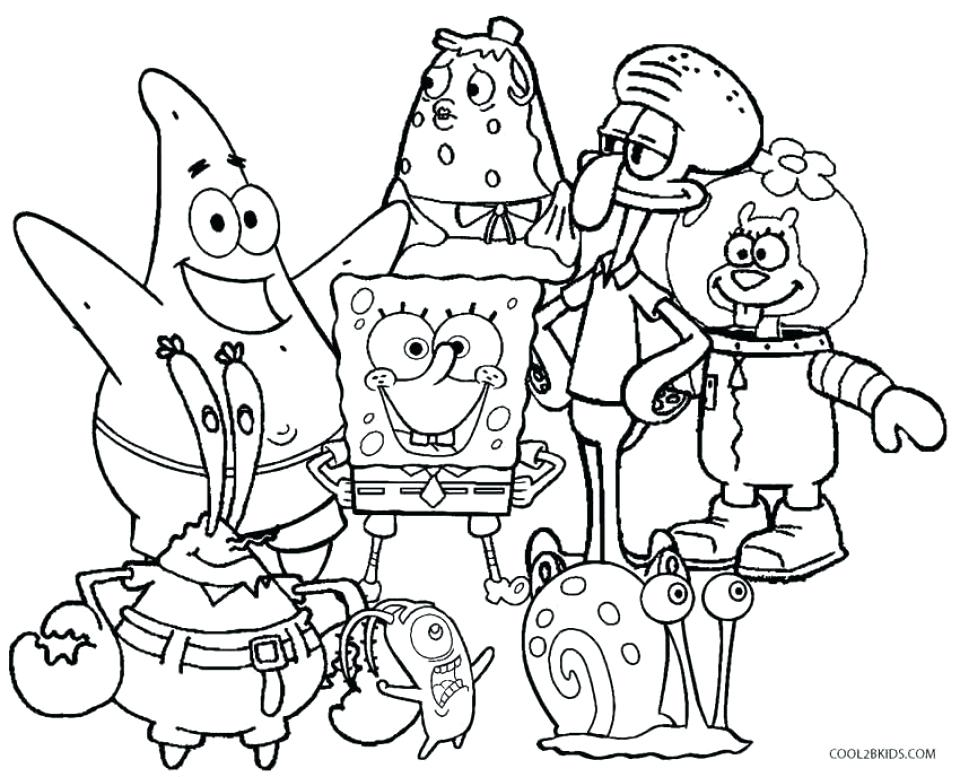 Spongebob Squarepants Printable Coloring Pages at ...