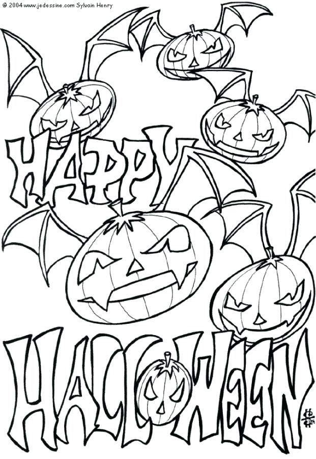 Spooky Castle Coloring Pages