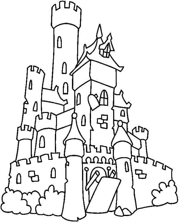 600x743 Haunted House Coloring Pages Haunted House Coloring Page Monster