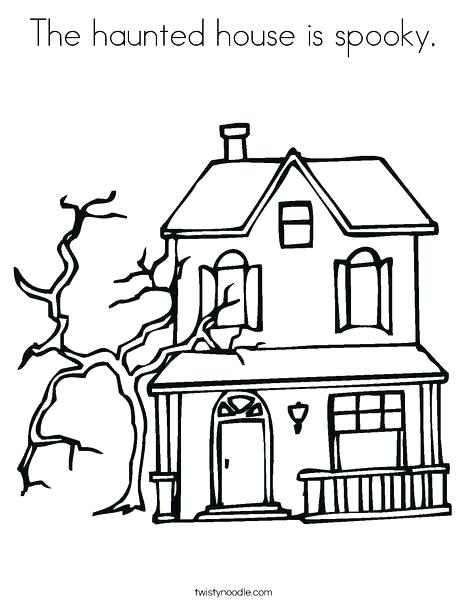 468x605 Haunted Mansion Coloring Pages Haunted House Coloring Pages