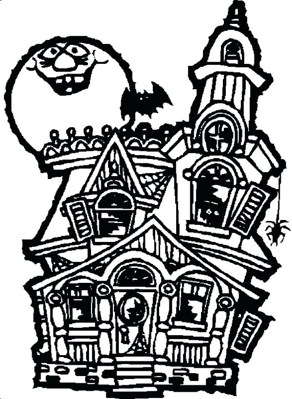 600x818 Haunted Mansion Coloring Pages Haunted House Coloring Pages Images