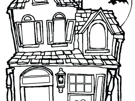440x330 Haunted House Coloring Page Color The Haunted House Coloring Page