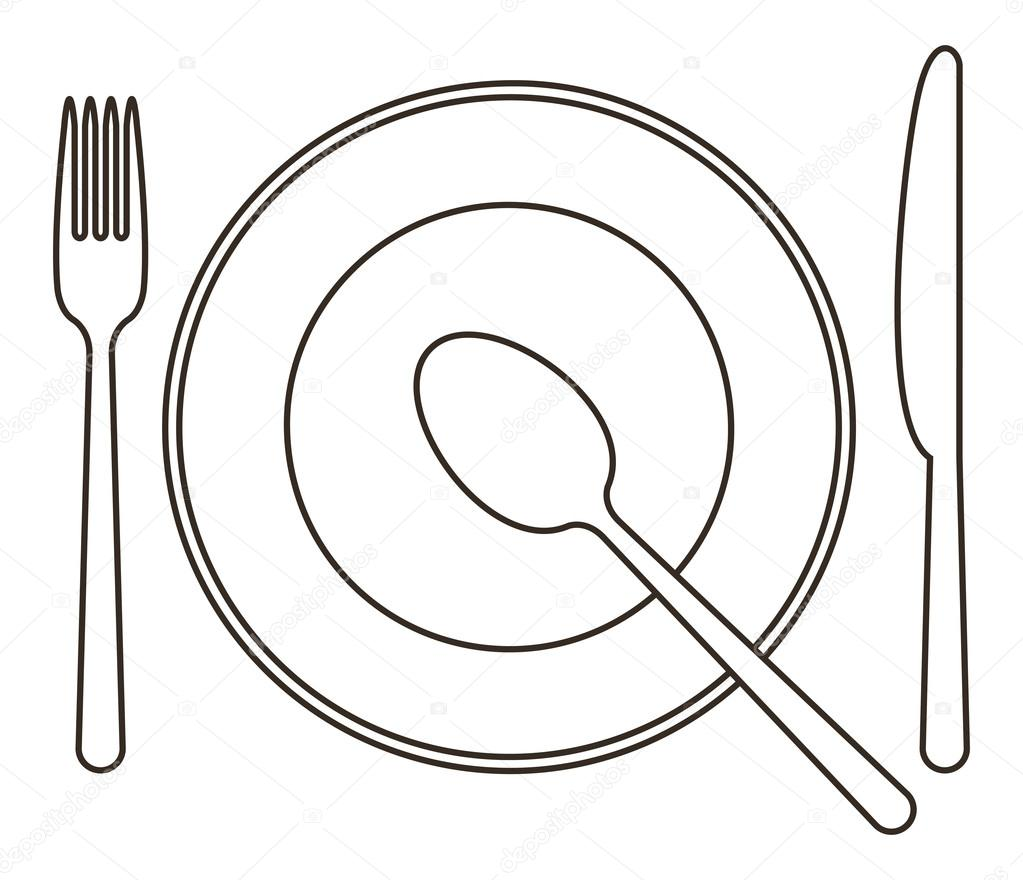 Spoon And Fork Coloring Pages