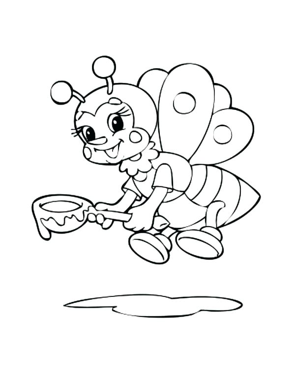 Spoon Coloring Page