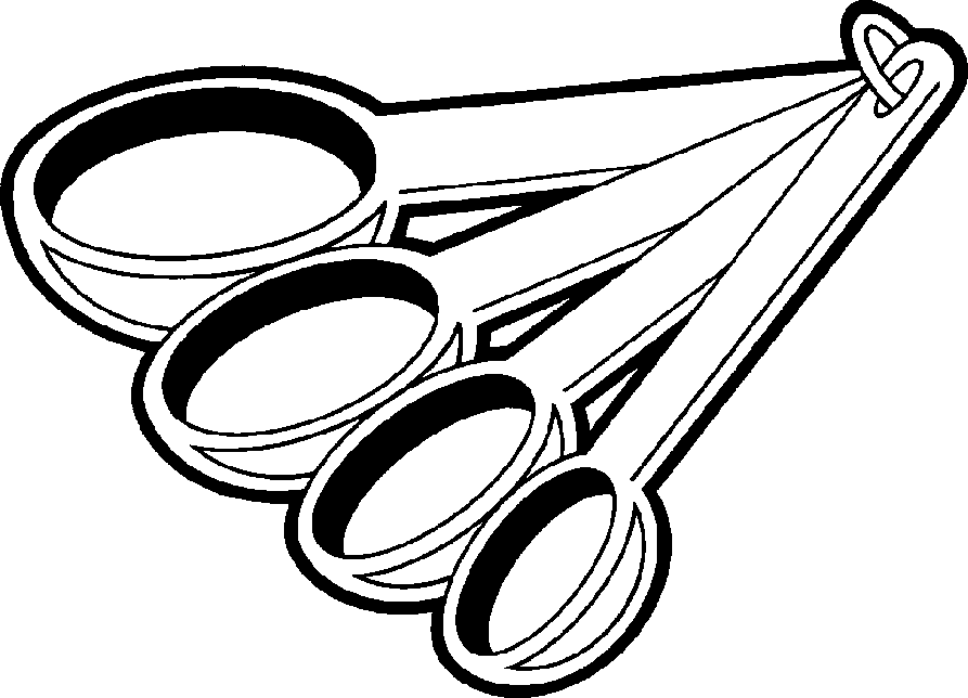893x644 Measuring Spoon Coloring Page