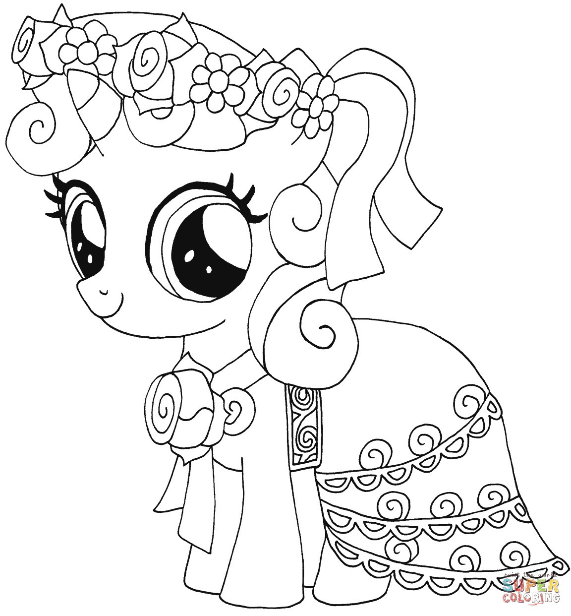 1152x1242 My Little Pony Coloring Pages Silver Spoon New