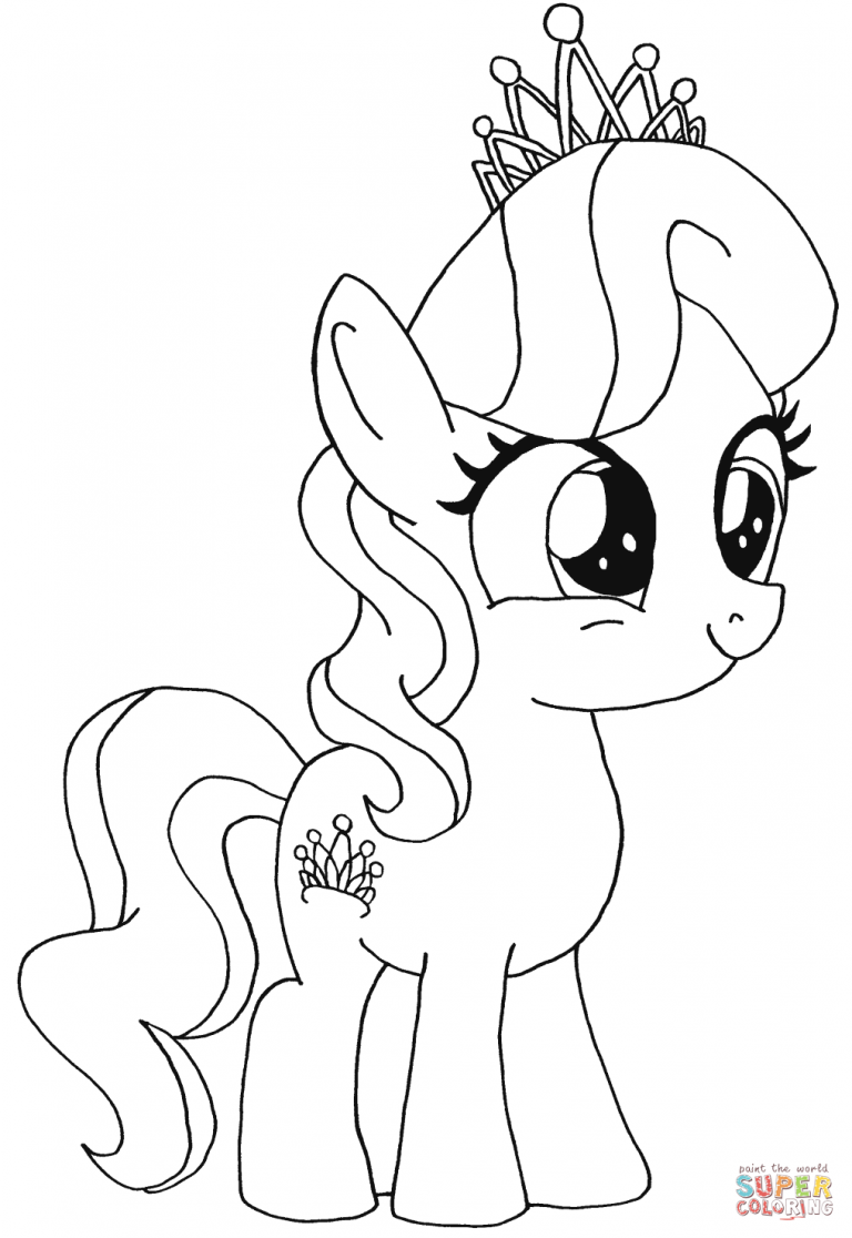 768x1116 Simple My Little Pony Coloring Pages Copy Silver Spoon Diamond