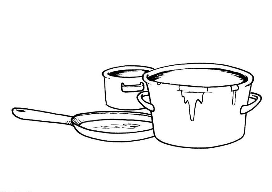875x620 Coloring Page Pots And Pans
