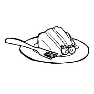 300x300 Eating Cake Slice With Spoon Coloring Pages Best Place To Color