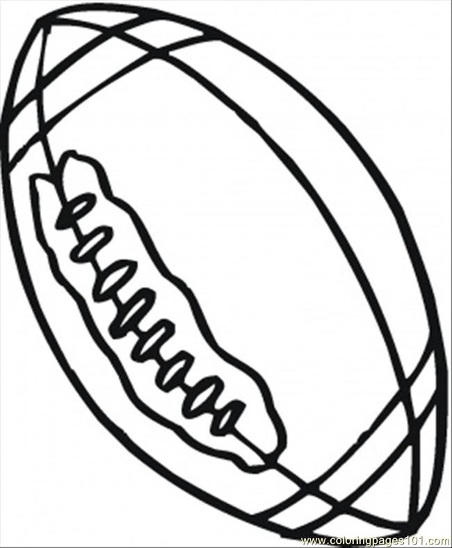 650x789 Rugby Ball Coloring Page