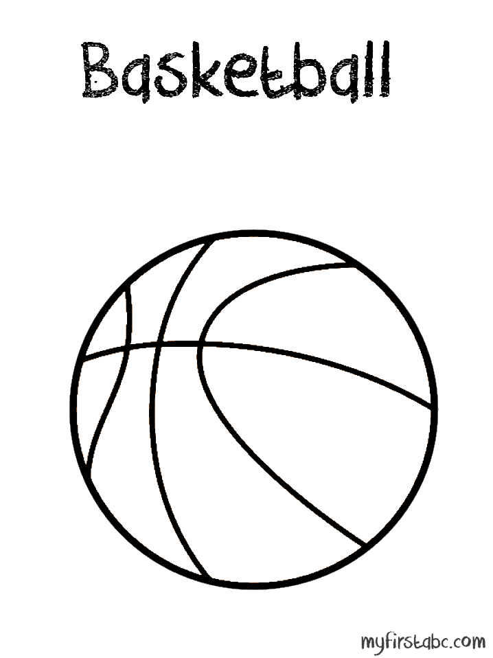 718x958 Basketball Coloring Page