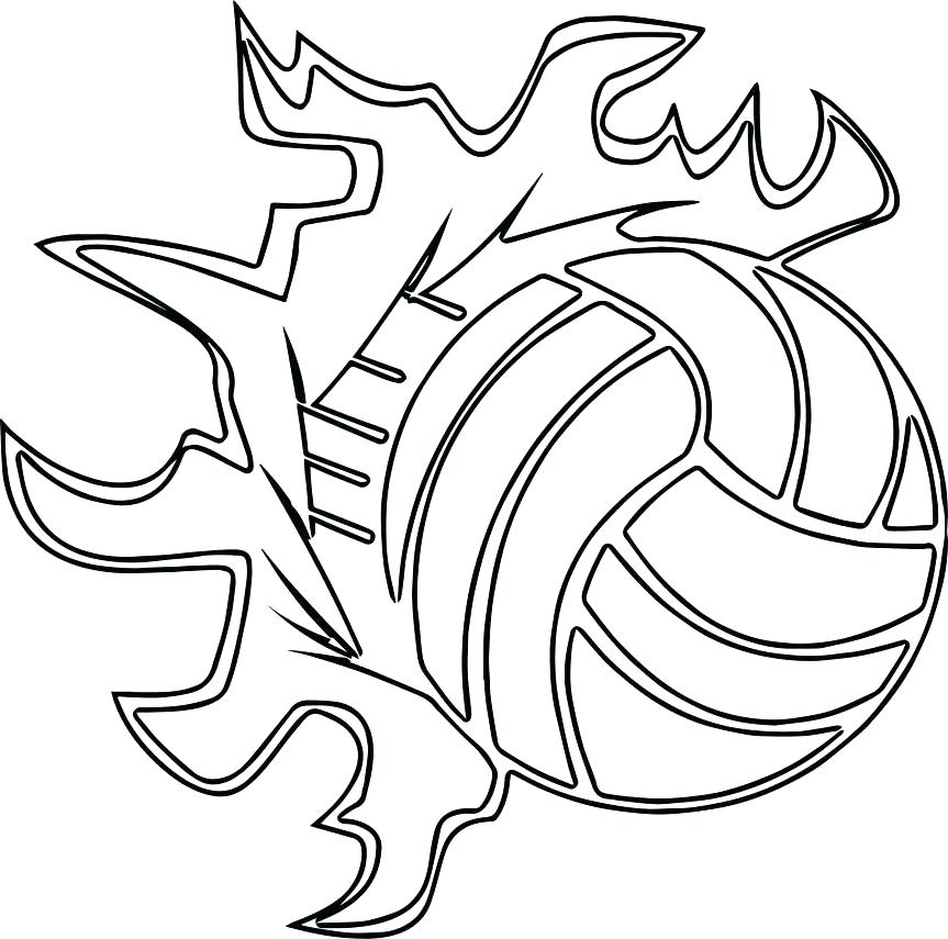863x855 Sports Balls Coloring Pages Volleyballs Players Ball Outline Page