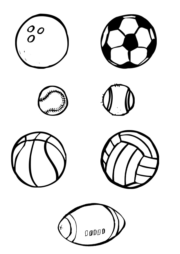 620x875 Sports Balls Free Coloring Page Kids, Sports Coloring Pages