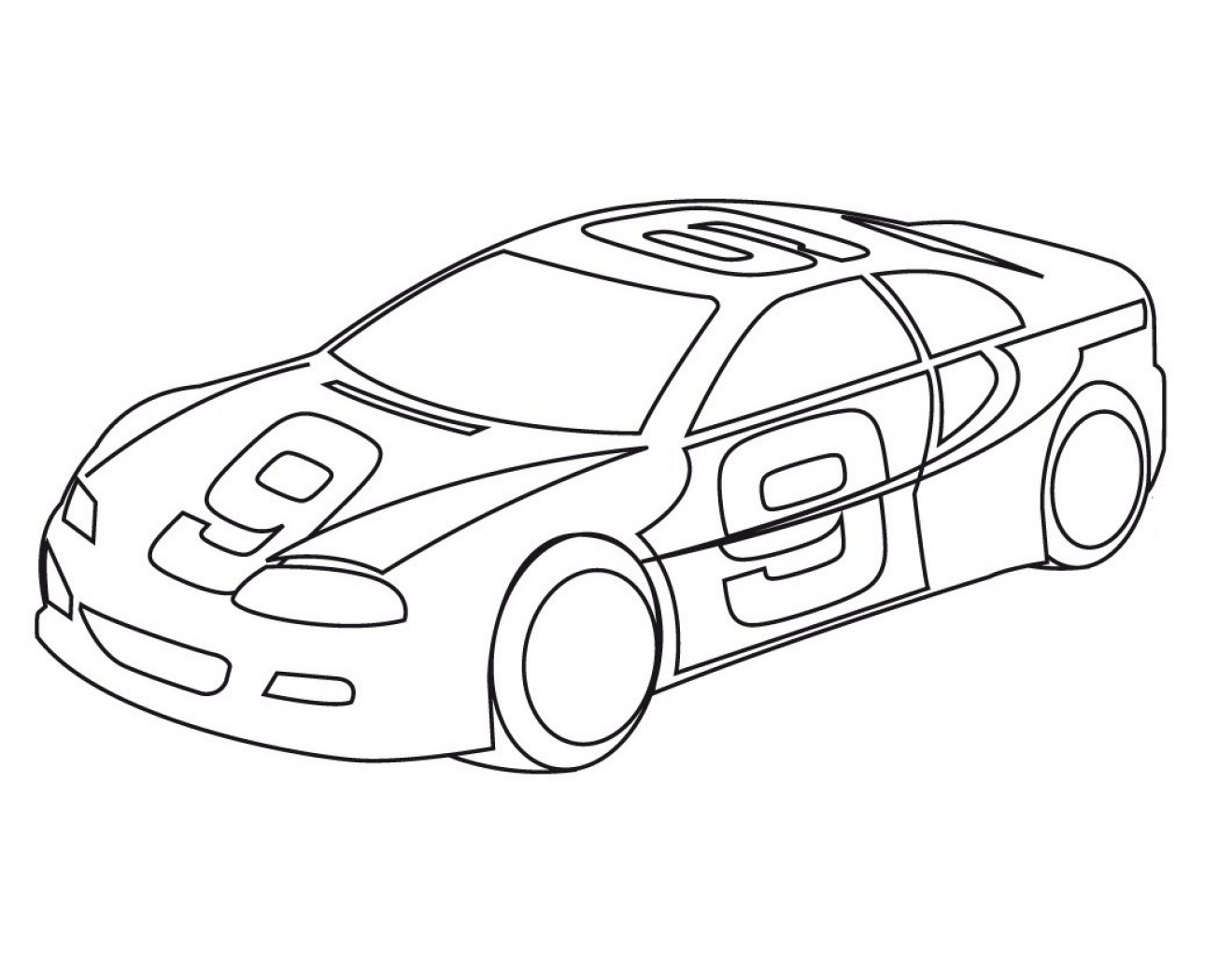 1319x1020 Sport Car Coloring Pages