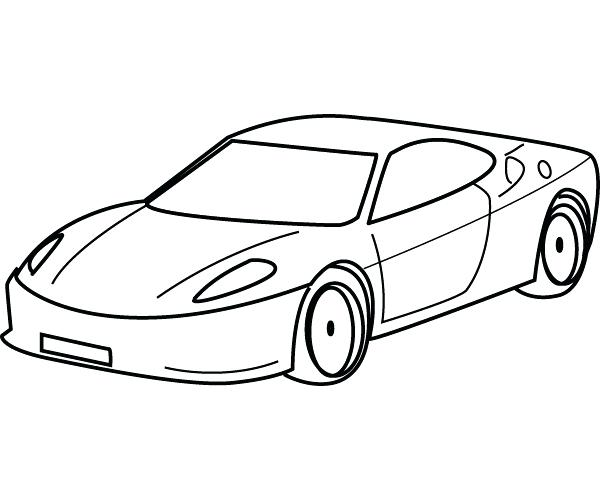 600x500 Sports Car Coloring Pages For Adults Murs