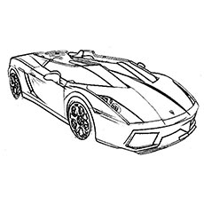 230x230 Top Free Printable Sports Car Coloring Pages Online
