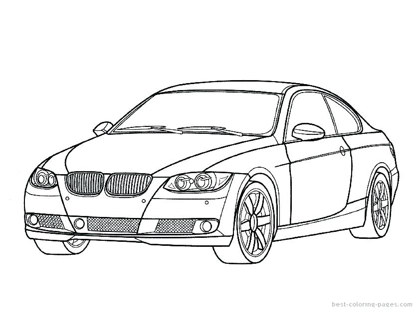 836x627 Sports Car Coloring Pages