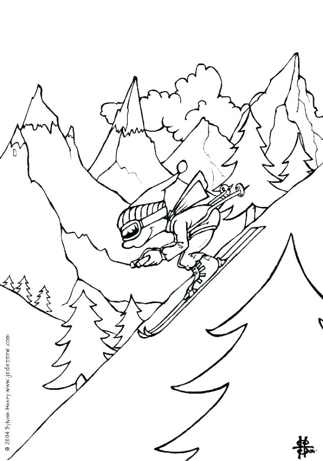 632x900 Coloring Pages Sports Free Printable Winter Sports Coloring Pages