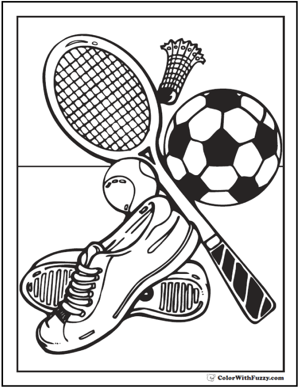 Sports Coloring Pages To Print