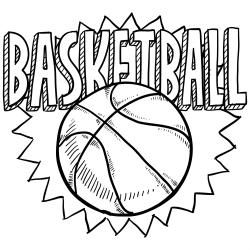 500x500 Sports Coloring Pages Basketball