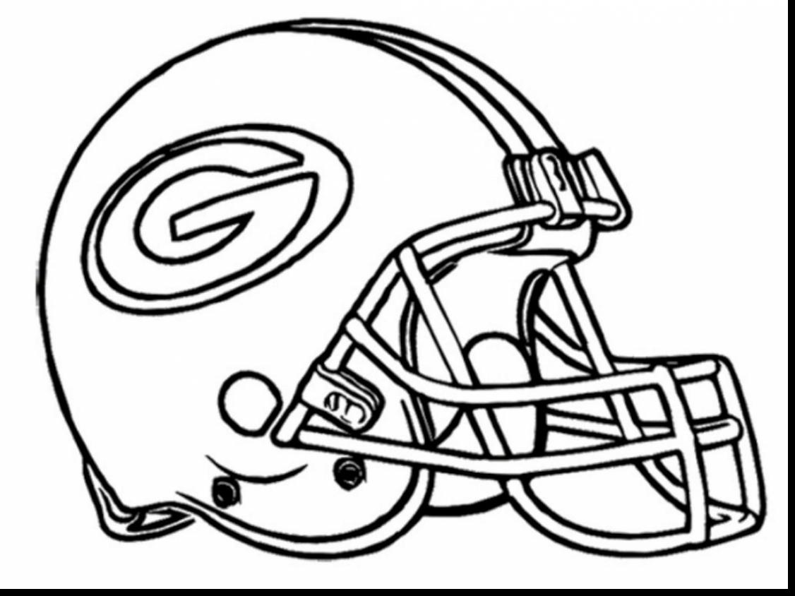 1126x844 Printable Sports Helmet Green Bay Packers Coloring Pages