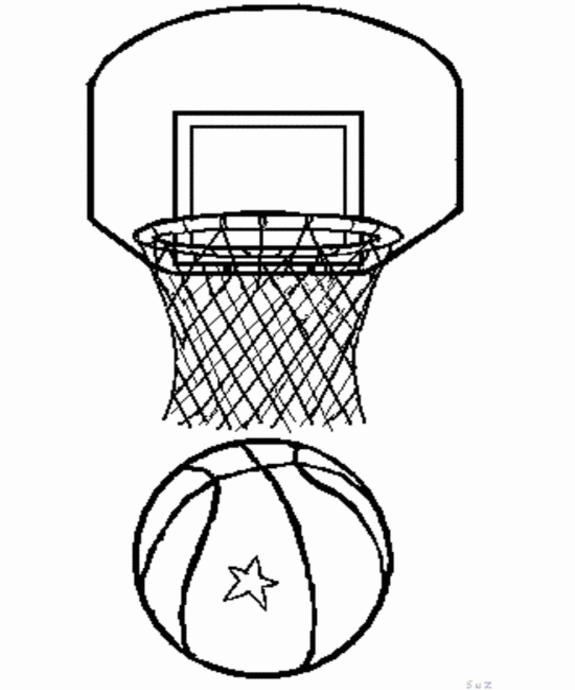 575x690 Sport Basketball Coloring Pages
