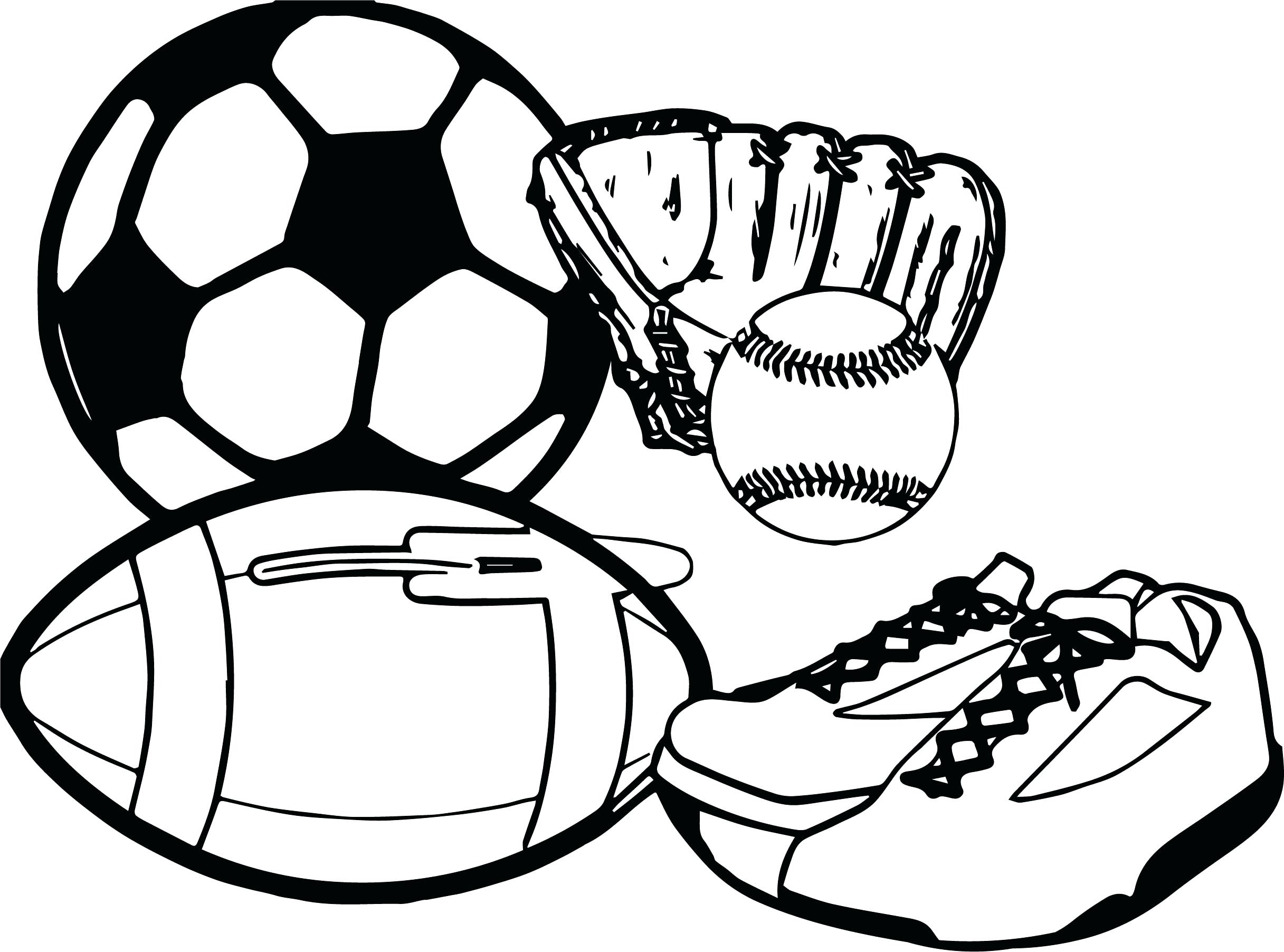 2433x1804 Sports Balls Coloring Pages