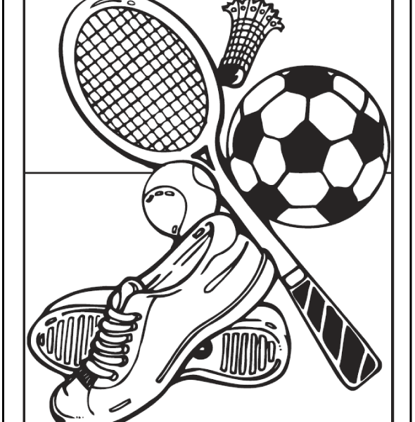 590x600 Sports Coloring Pages Pdf Coloring Page