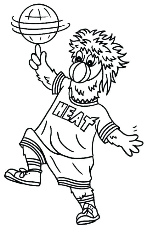 467x730 Miami Heat Logo Coloring Sheet Kids Coloring Free Heat Icon Page