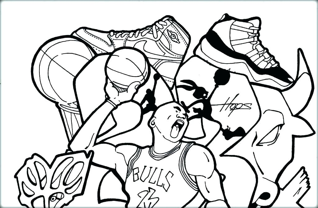 1024x671 Nba Coloring Pages Printable Coloring Page Growth Basketball