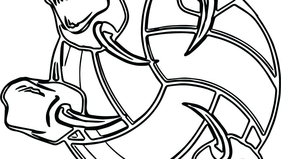 960x544 Sports Coloring Pages Printable Volleyball Logo Coloring Page