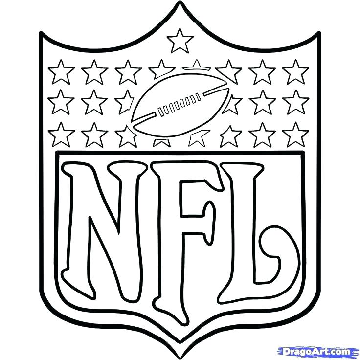 736x736 Coloring Pages Sports Logos Nfl Logos Coloring Pages Team Coloring