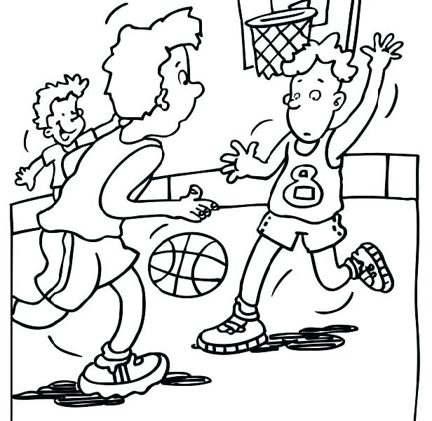 616x600 Basketball Coloring Pages Printable Basketball Coloring Pages