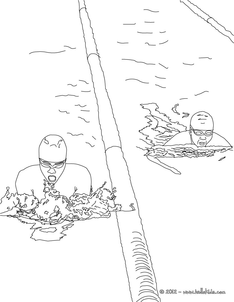 821x1061 Freestyle Swimming Sport Coloring Pages