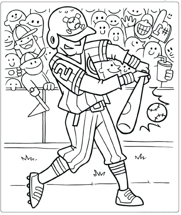 613x730 Good Sports Coloring Pages Or A Hitter In Baseball Coloring Page