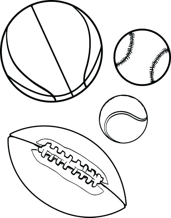 548x700 Sports Coloring Pages Printable Ball Coloring Pages Printable