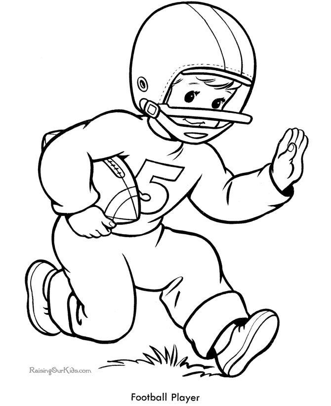 670x820 Sports Themed Coloring Pages