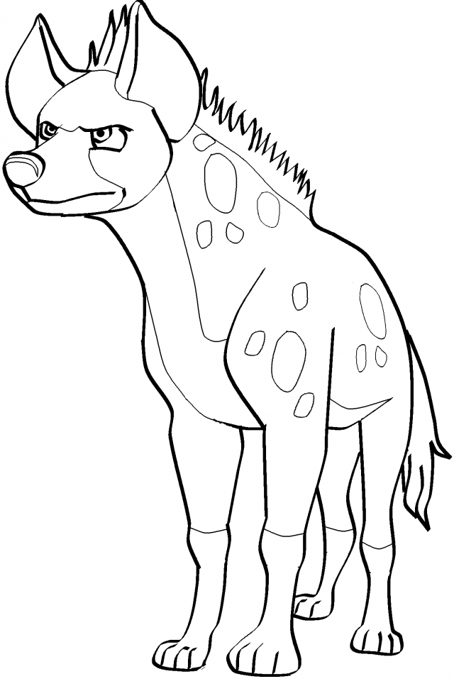 Spotted Hyena Coloring Pages