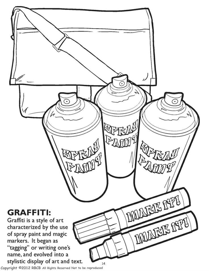 Spray Paint Coloring Pages