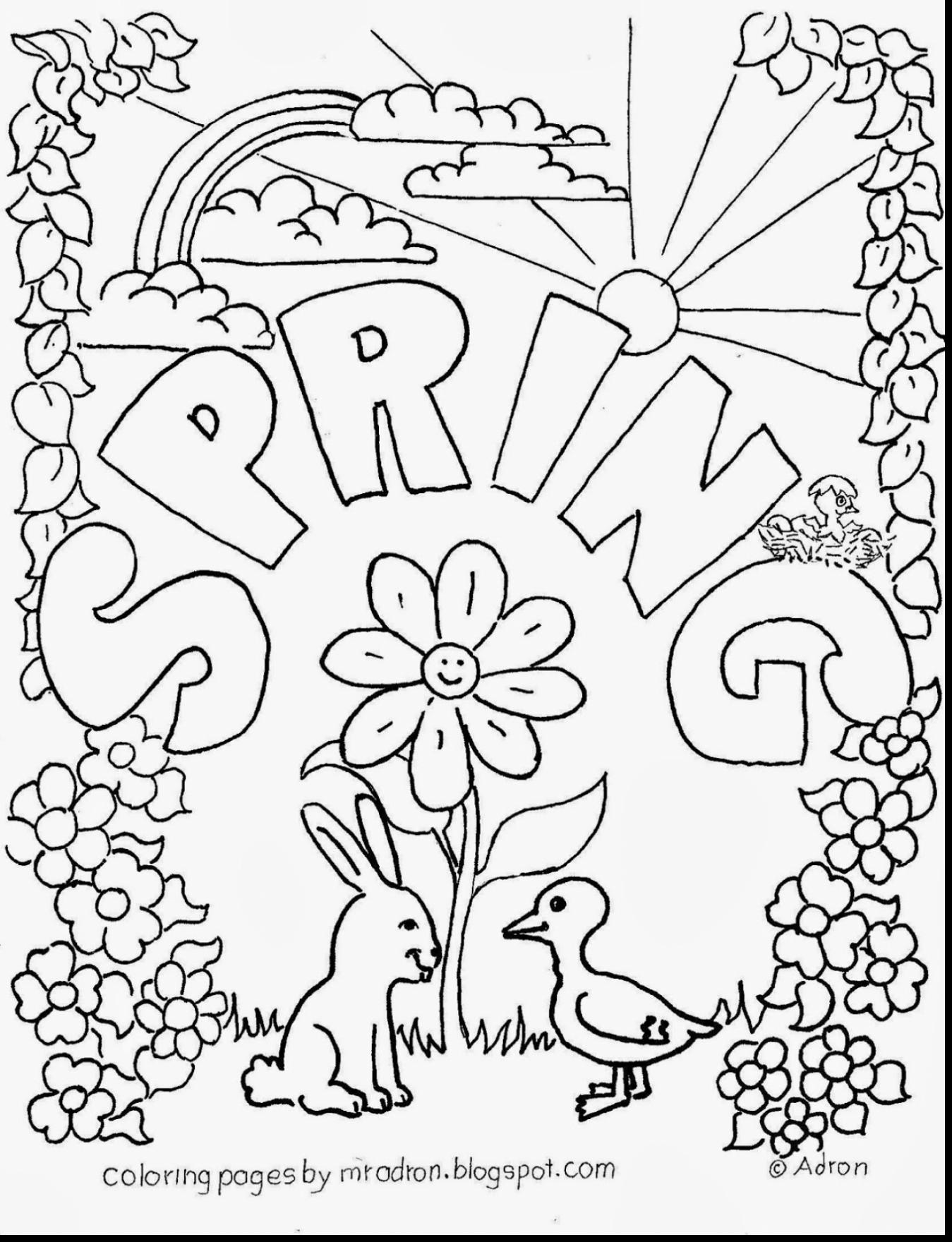 1349x1760 Good Adult Spring Coloring Page With Pages At Printable