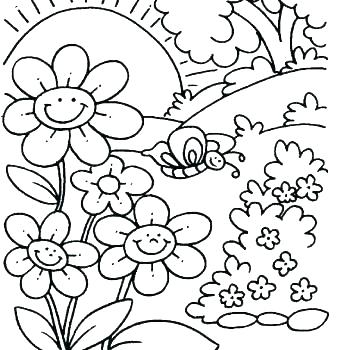 350x350 Nice Spring Coloring Page Gallery Example Resume Ideas Spring