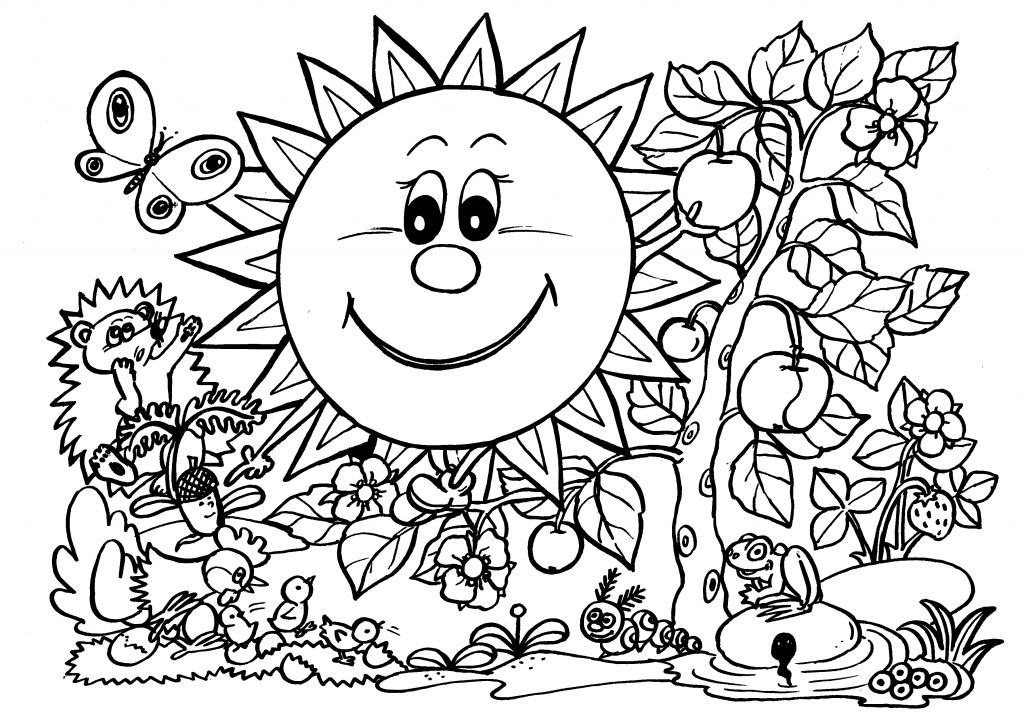 1024x725 Spring Animals Coloring Pages Coloring Page For Kids Kids Coloring