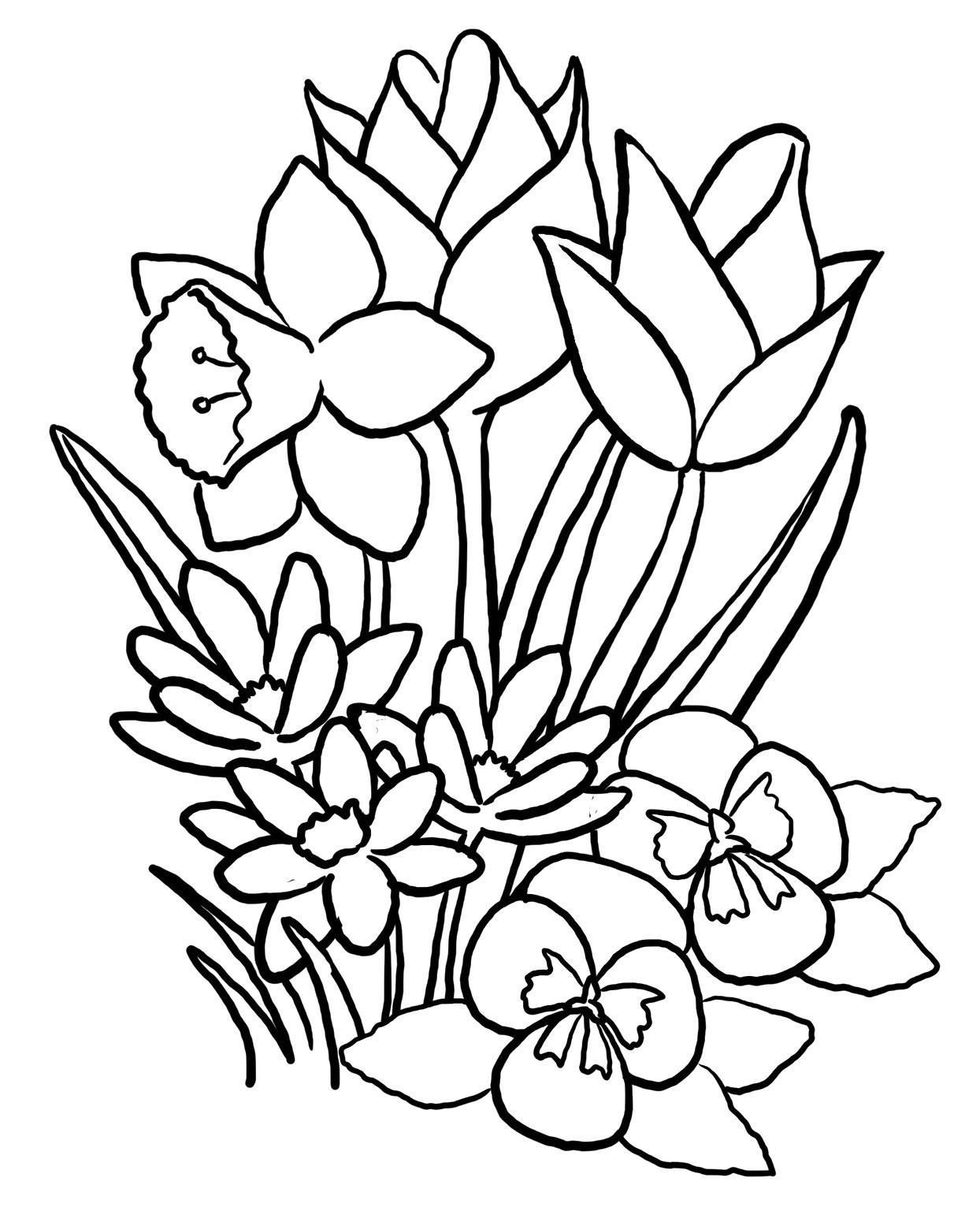 1244x1536 Coloring Pages Flowers Spring Coloring Page Fun