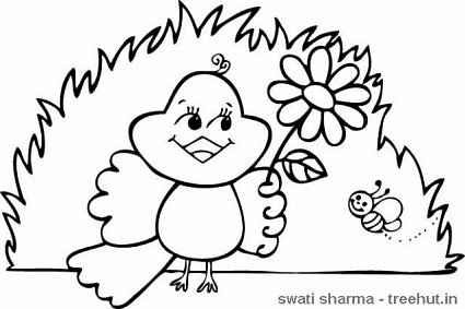 425x283 Birds Coloring Pages