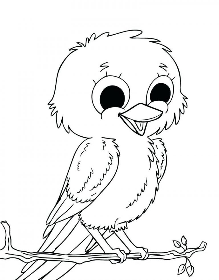 768x979 Easy Bird Coloring Pages Best Of For Preschoolers Spring Birds