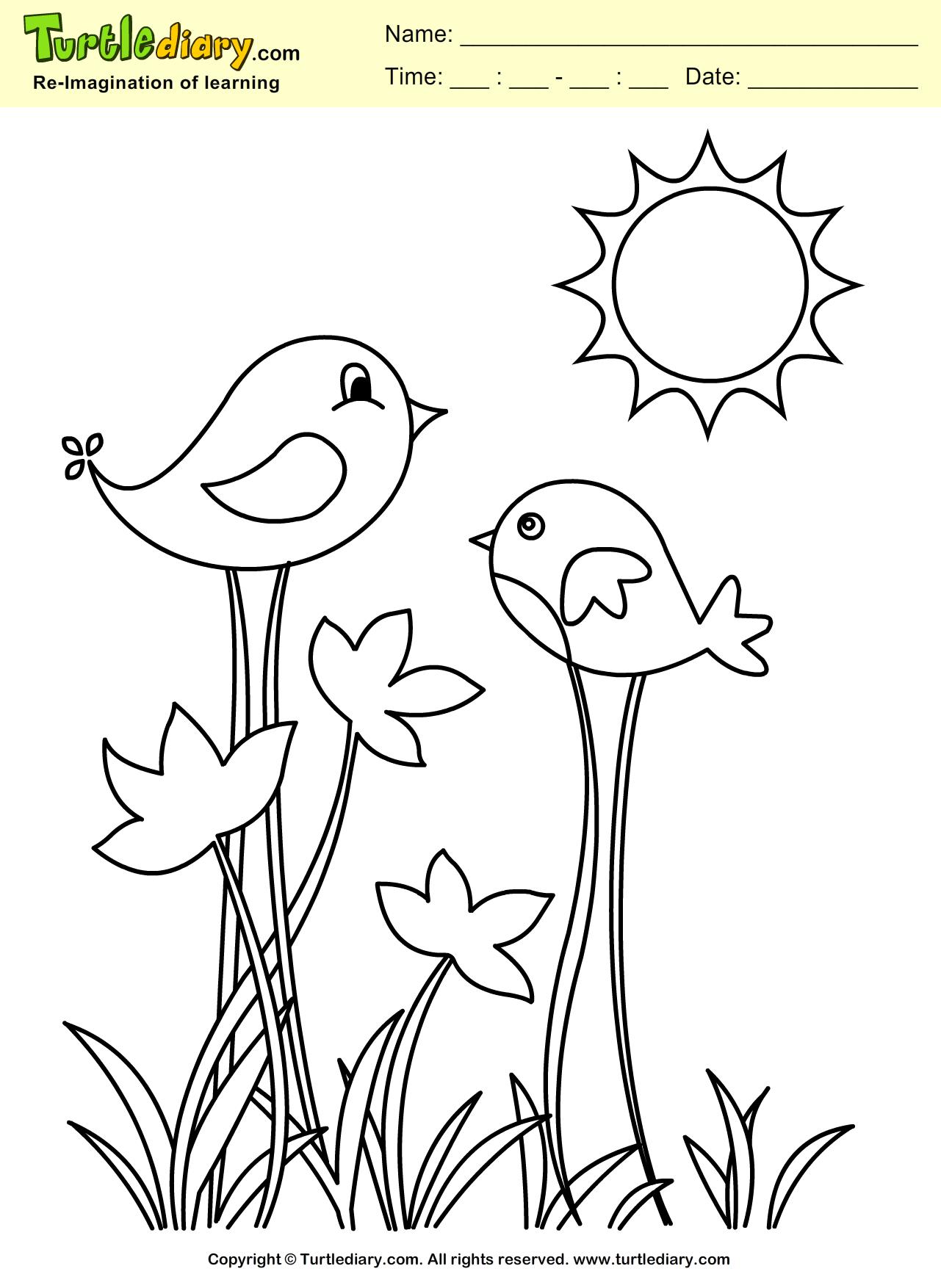 1281x1754 Birds Coloring Pages Spring Color Bros Ribsvigyapan Birds Birds