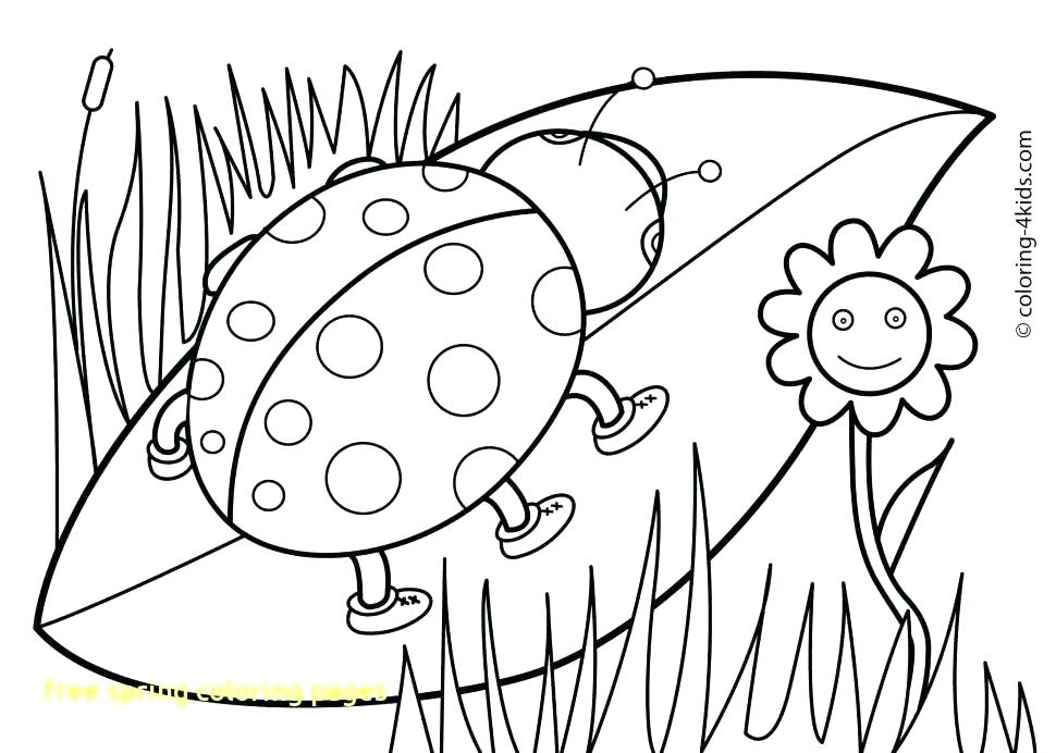 970x692 Free Spring Color Sheets Free Spring Coloring Pages With Holiday