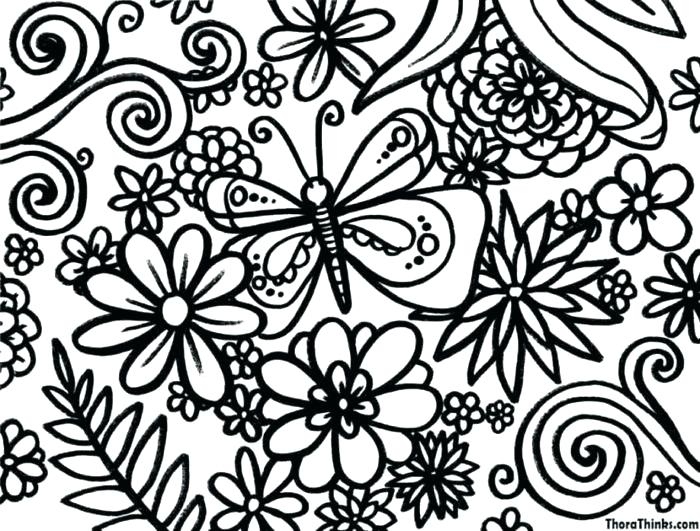 700x531 Printable Coloring Sheets For Spring Spring Break Coloring Sheets
