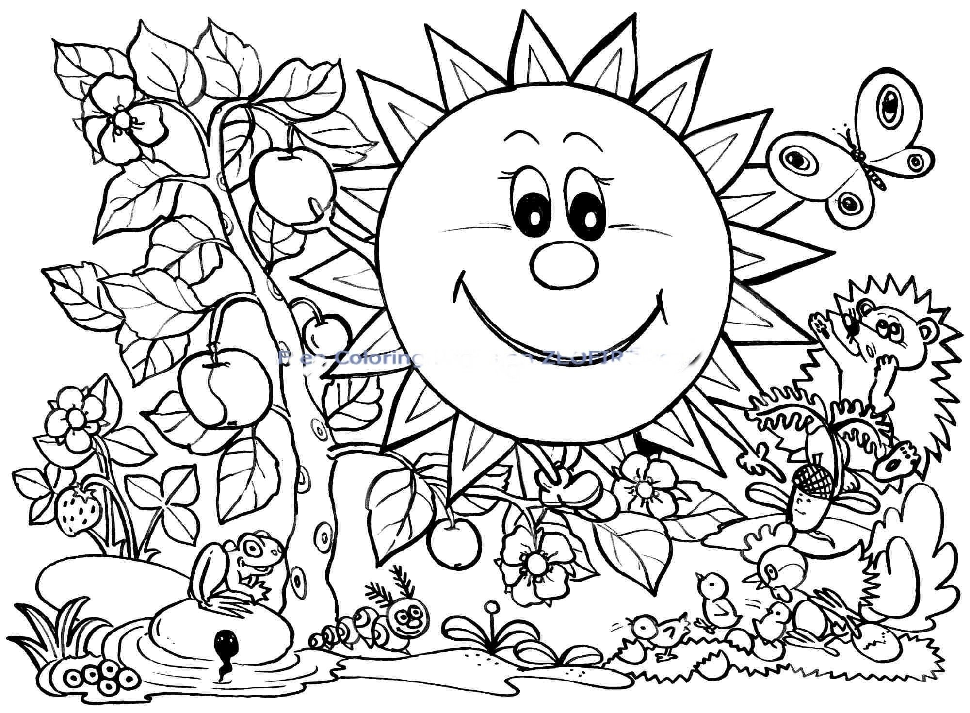 2000x1470 Spring Break Coloring Pages Collections Free Coloring Pages