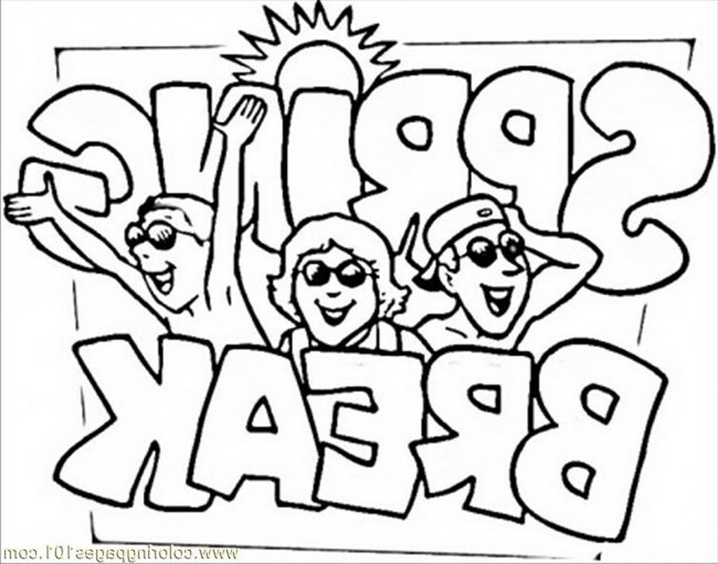 1048x824 Spring Break Coloring Pages